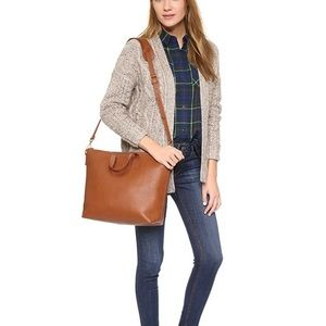 Madewell Zip Top carryall Brown